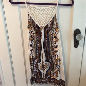 LF Patterned Beach Cover Up Dress